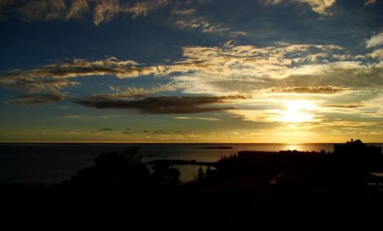 coucher du soleil sur le pacifique