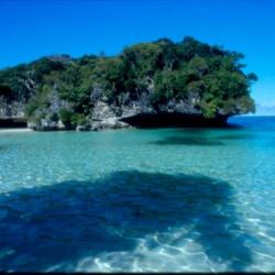 La rocher de la baie de Kanuméra Nouvelle-Caledonie